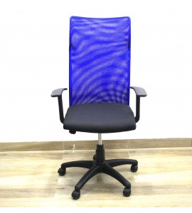 High Back Blue Netted Chair
