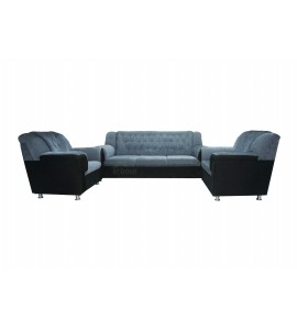 5 Seater Grey Color Sofa Set