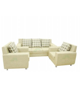 5 Seater Jute Sofa Set 002