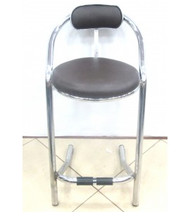 Leatherette High Stool