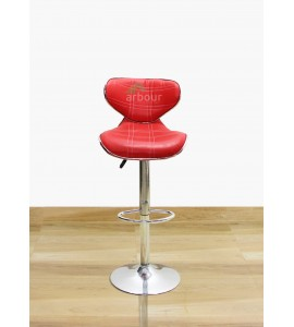 Red Color Leatherette Bar Stool