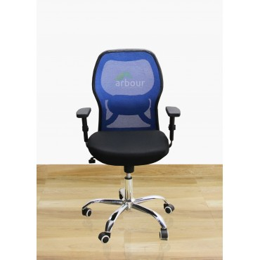 Matrix Blue Medium Back Chair