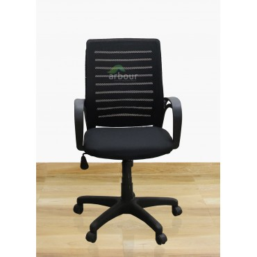 Nylon Medium Back Fixed Mesh Chair