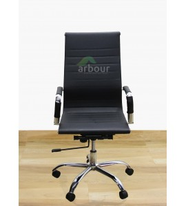 Leatherete Crome Manager Chair